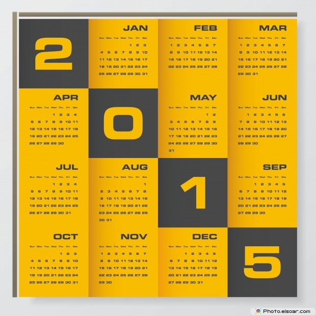 Business Calendars For 2015 – Awesome JPEGs Templates • Elsoar