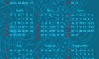 Blue 2015 Calendar - Free