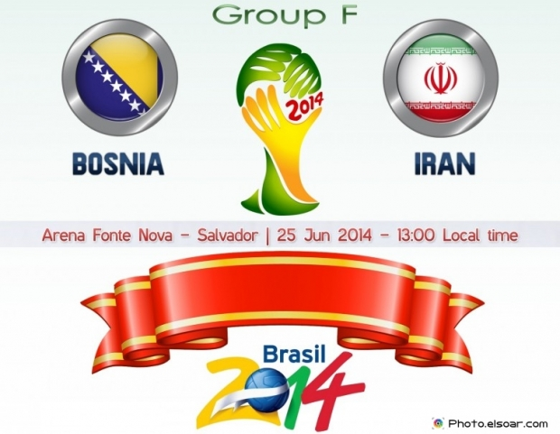 Bosnia And Herzegovina Vs Iran - World Cup 2014 - 25 Jun 2014 - 13:00 Local time - GROUP F - Arena Fonte Nova - Salvador