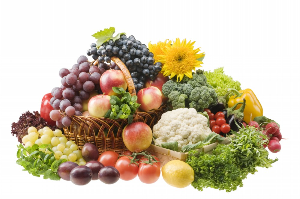 Image result for images of basket of fruit and vegetables