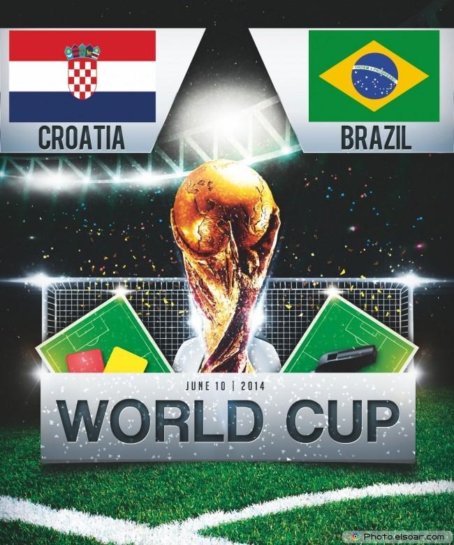 Brazil vs Croatia - World Cup 2014 - 17:00 Local time - GROUP A - Arena de Sao Paulo - Sao Paulo