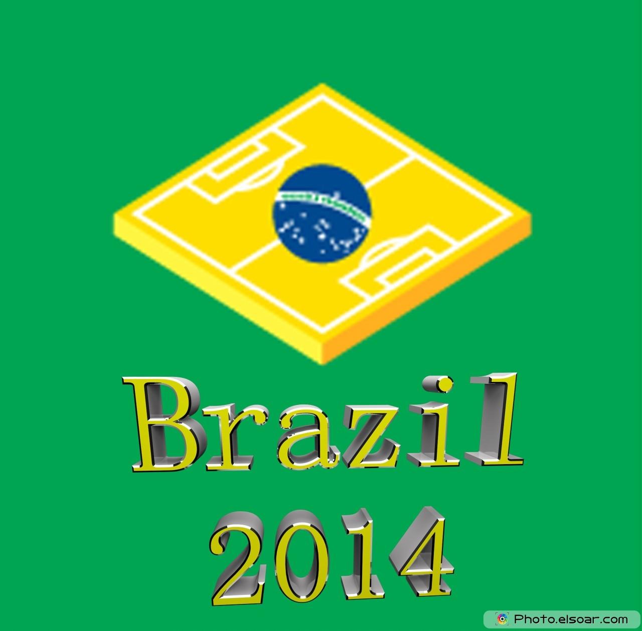 Brazilian flag included Brazil 2014