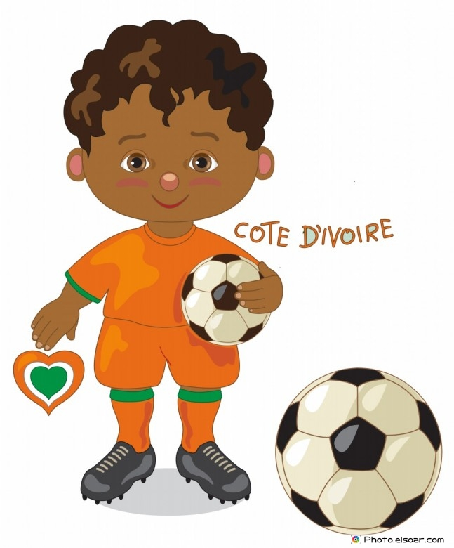 Côte d'Ivoire National Jersey, Cartoon Soccer Player