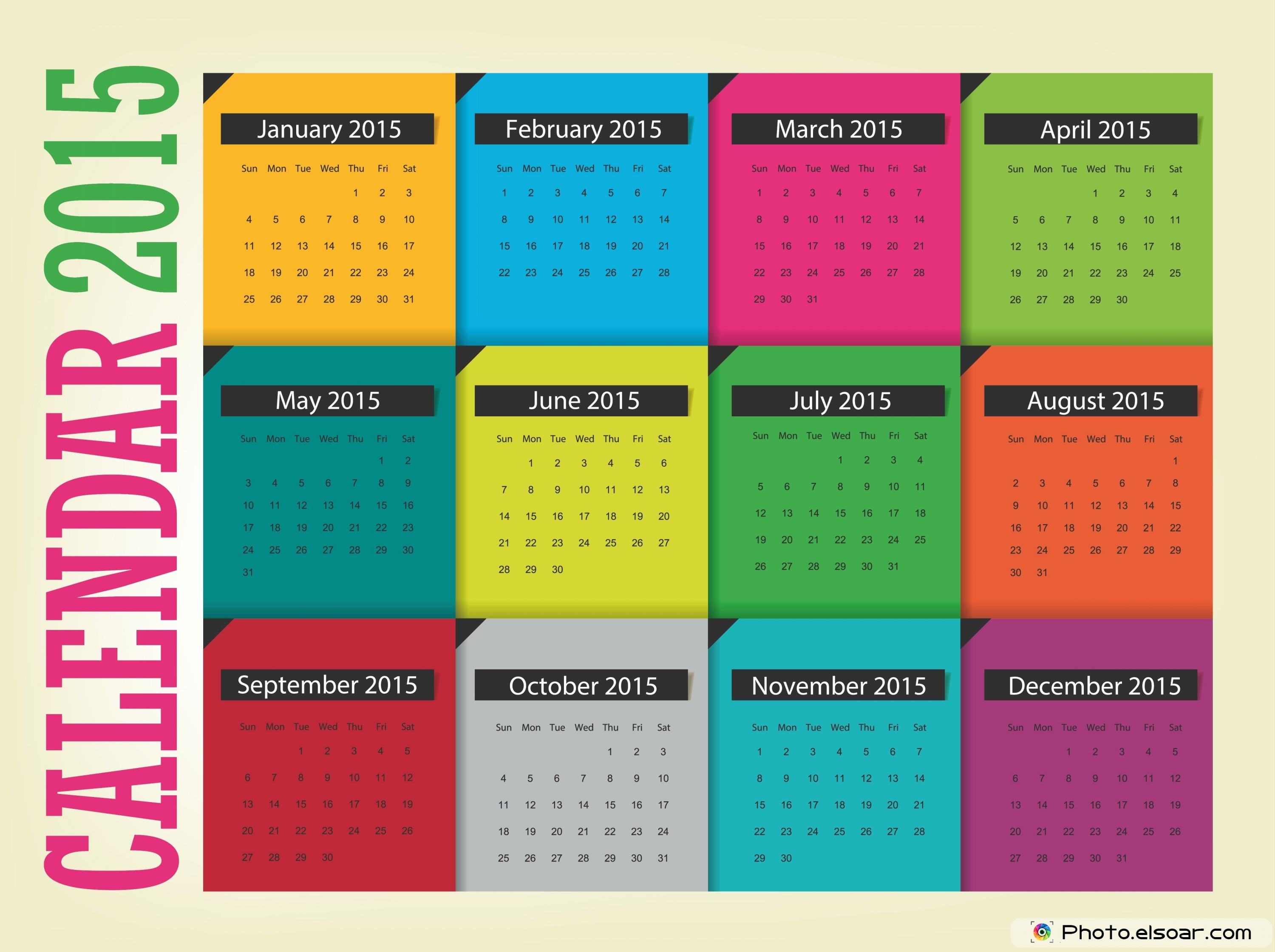 Original Calendars For 2015 In Different Ideas • Elsoar