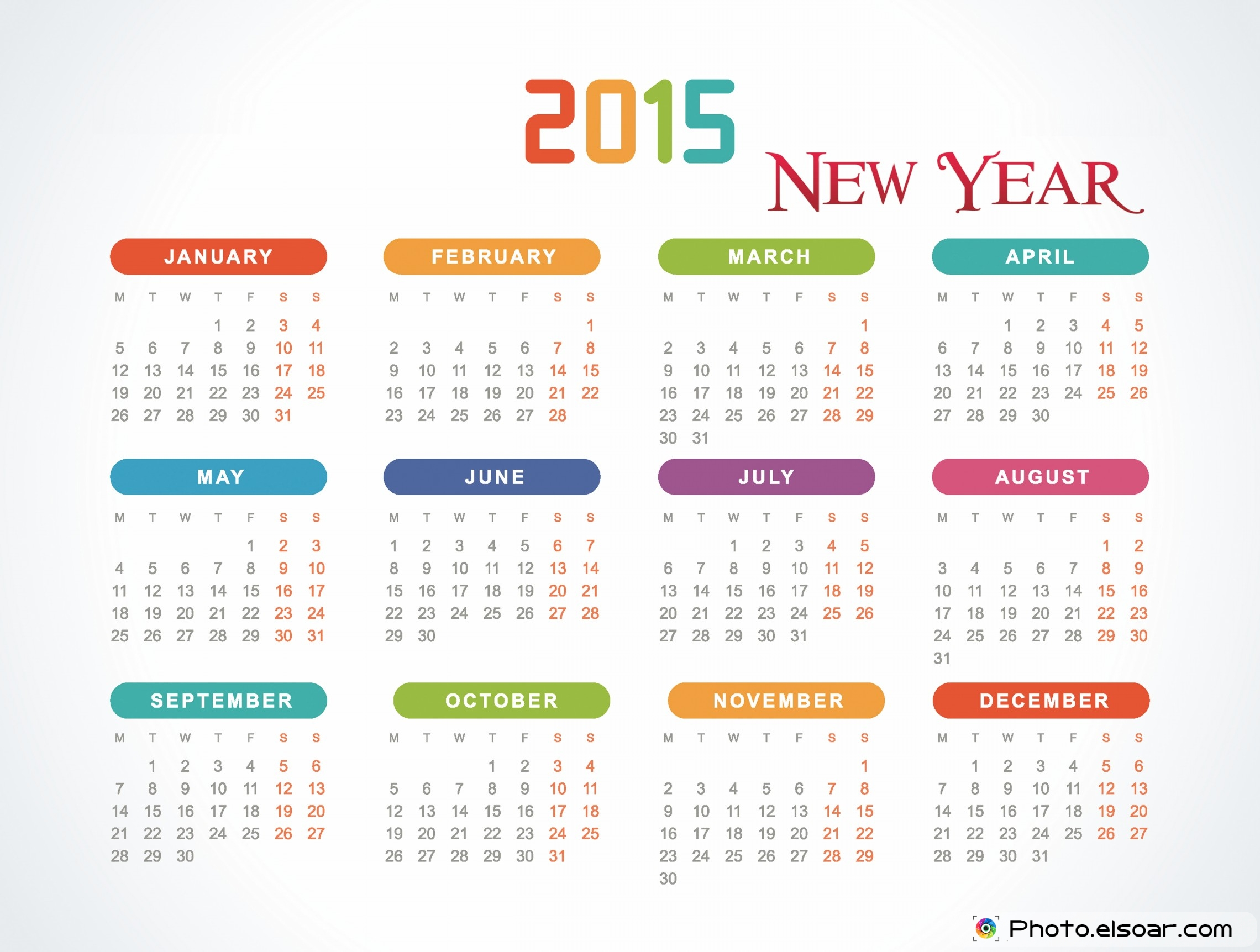 25 Beautiful New Year Calendars 2015 | ForestWonders