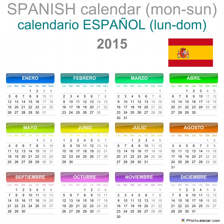 Calendar Photography 2015 : Calendarios free printable spanish calendar