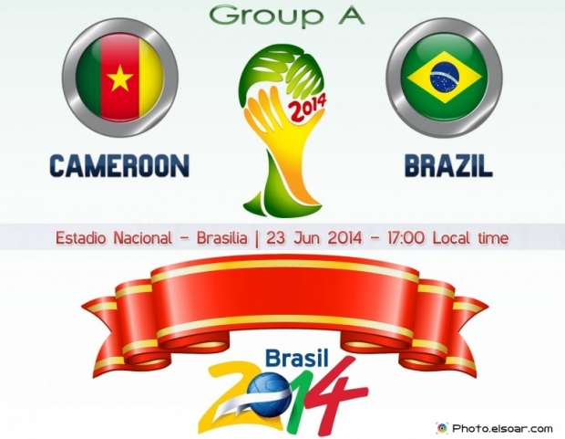 Cameroon Vs Brazil - World Cup 2014 - 23 Jun 2014 - 17:00 Local time - GROUP A - Estadio Nacional - Brasilia