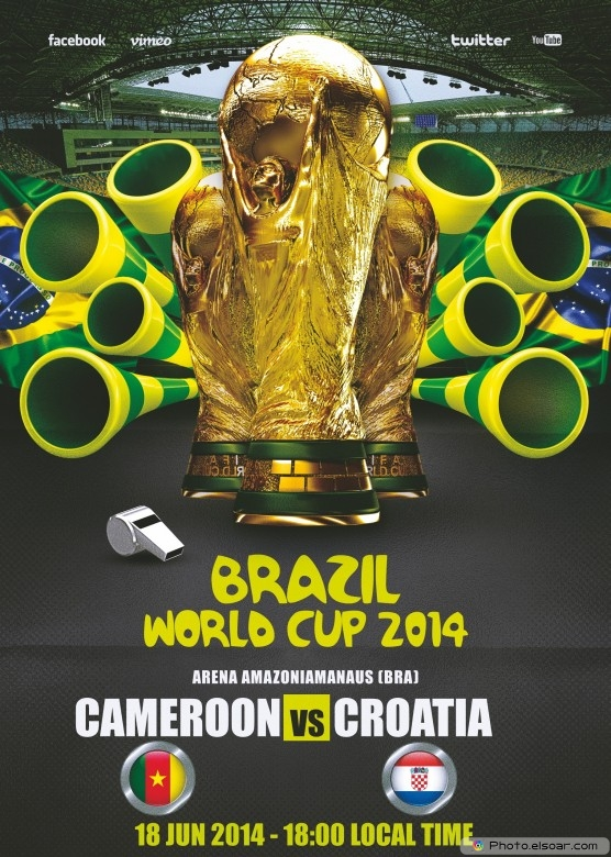 Cameroon vs Croatia - World Cup 2014 - 18 Jun 2014 - 18:00 Local time - Group A - Arena Amazonia - Manaus