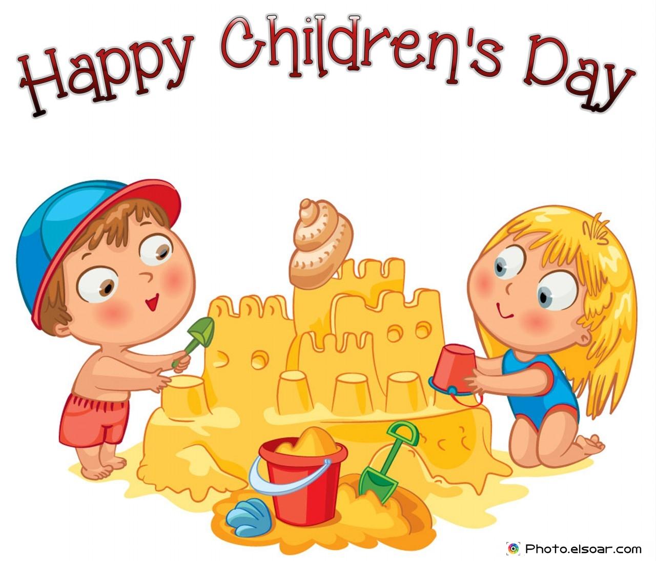happy children u0027s day with cartoon kids u2022 elsoar