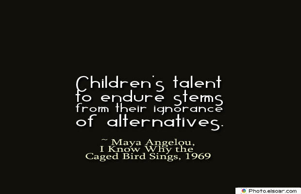 Children's talent to endure stems