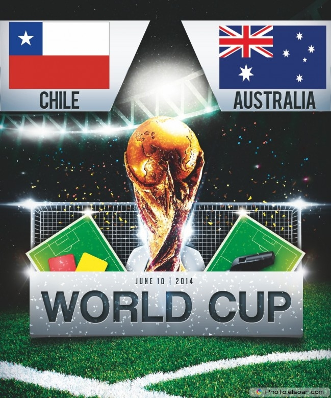 Chile vs Australia - World Cup 2014 - 18:00 Local time - GROUP B - Arena Pantanal - Cuiaba