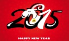 Chinese 2015 New Year Card With Goat