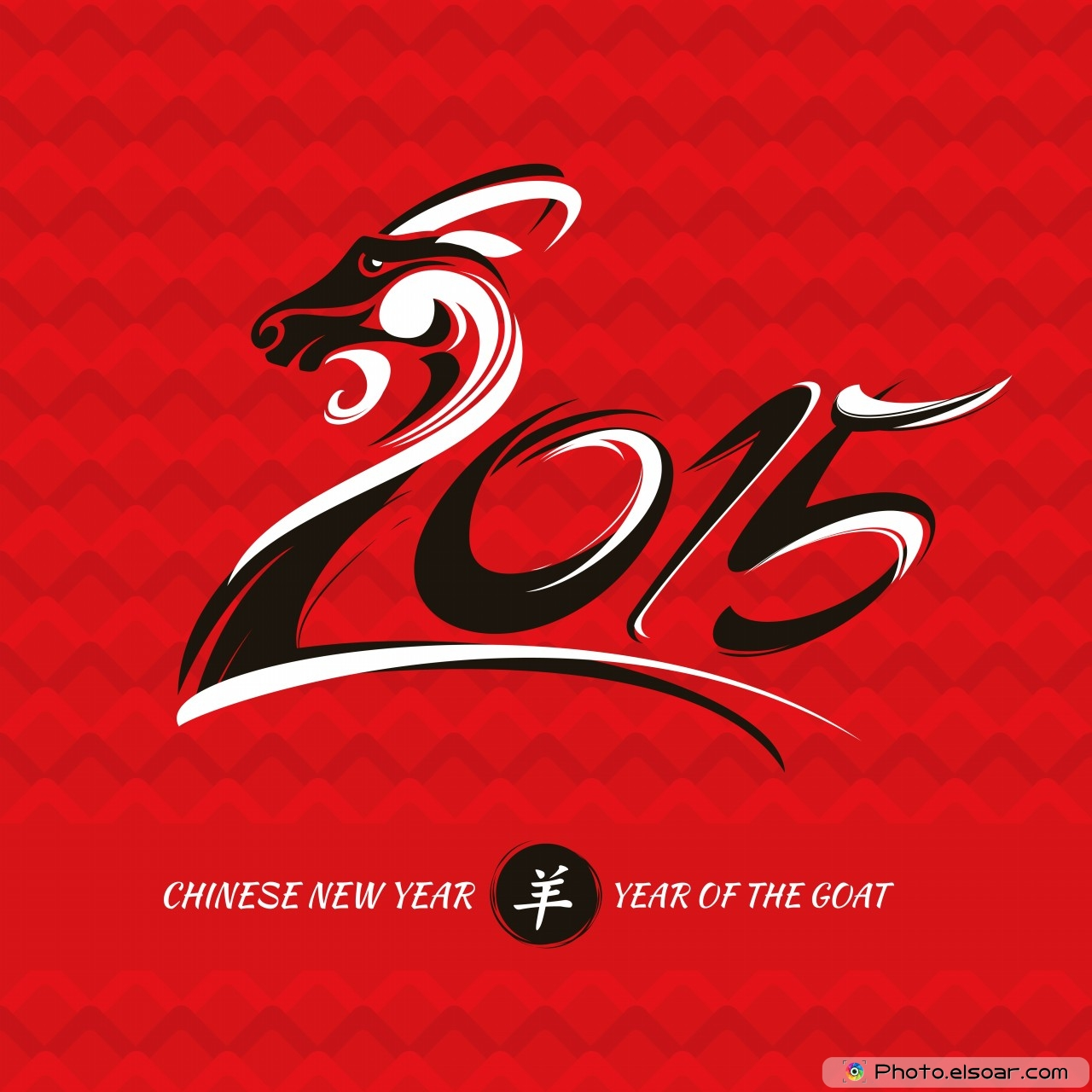 chinese new year 2015 greeting cards with goats • elsoar
