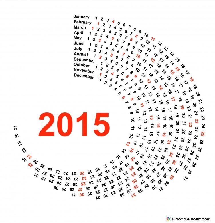 Circle Calendar 2015.
