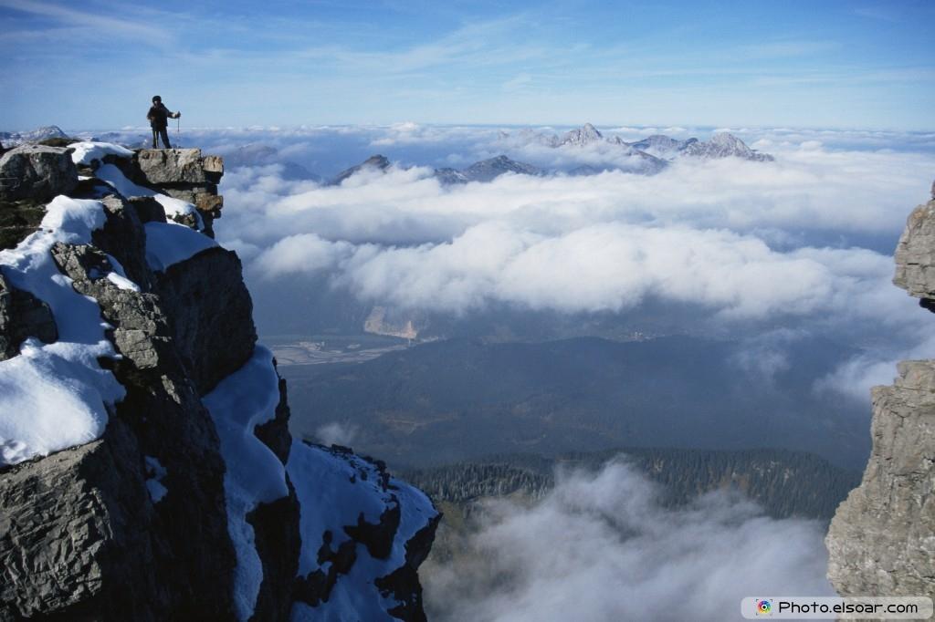 Climber On Mountain Top