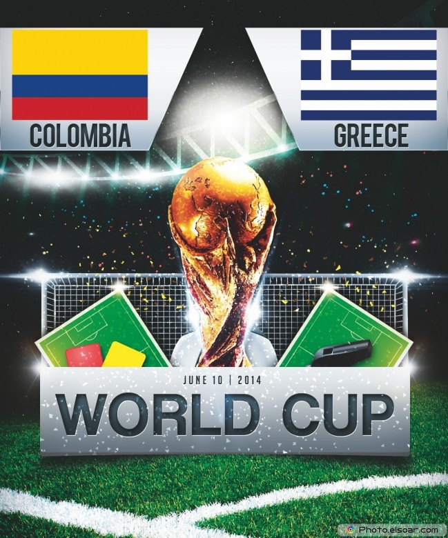 Colombia vs Greece - World Cup 2014 - 13:00 Local time - GROUP C - Estadio Mineirao - Belo Horizonte