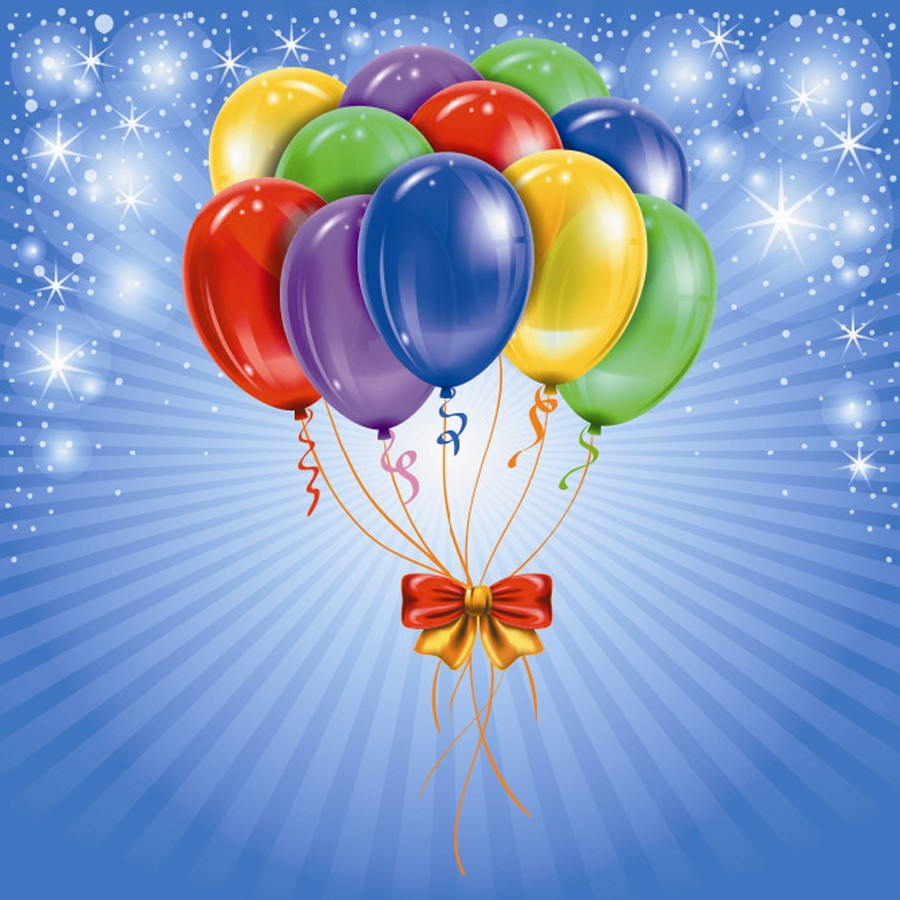 Colorful Birthday Cards with Balloons Elsoar – Birthday Cards Balloons