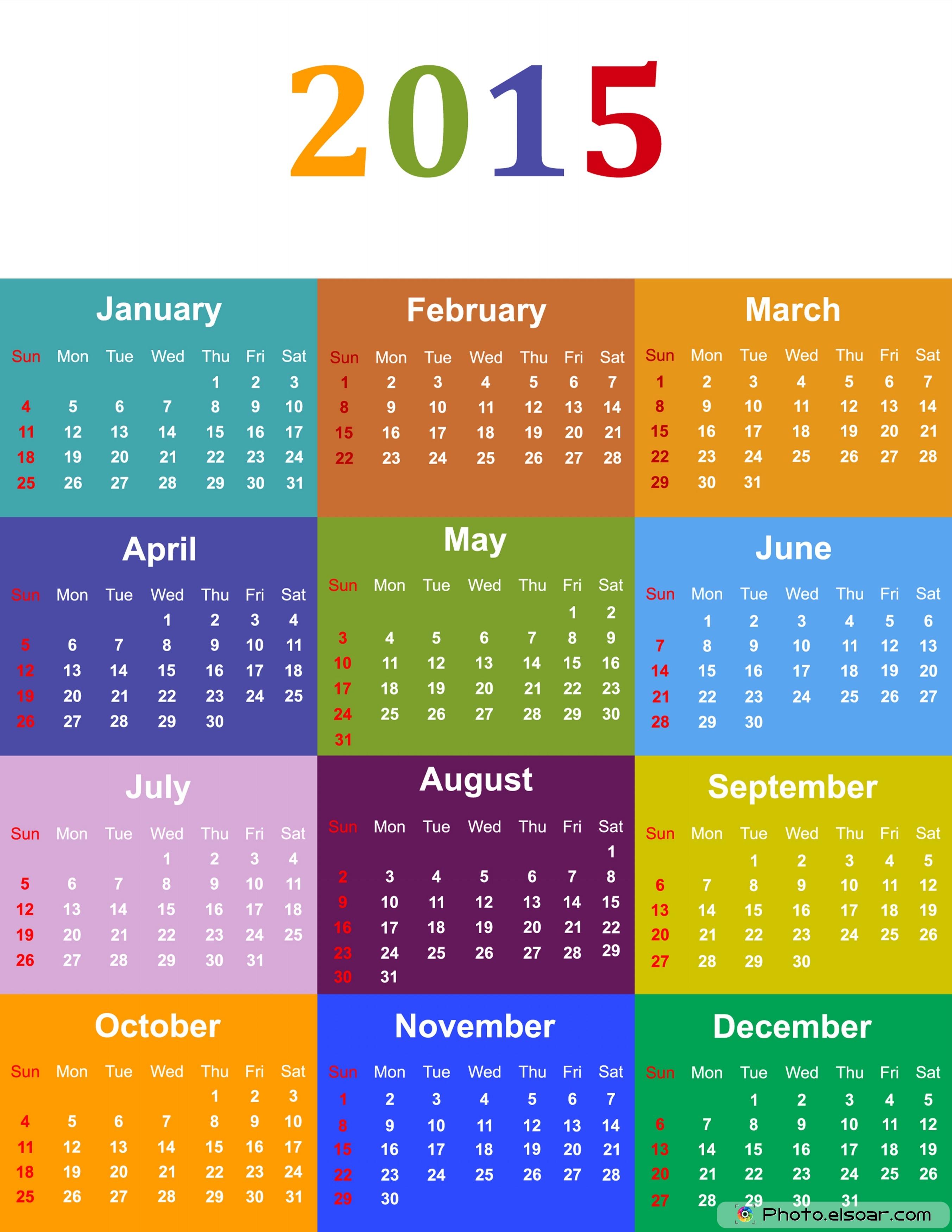 2015 calendar designs  with 25 good ideas