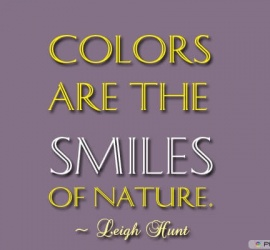 Colors are the smiles