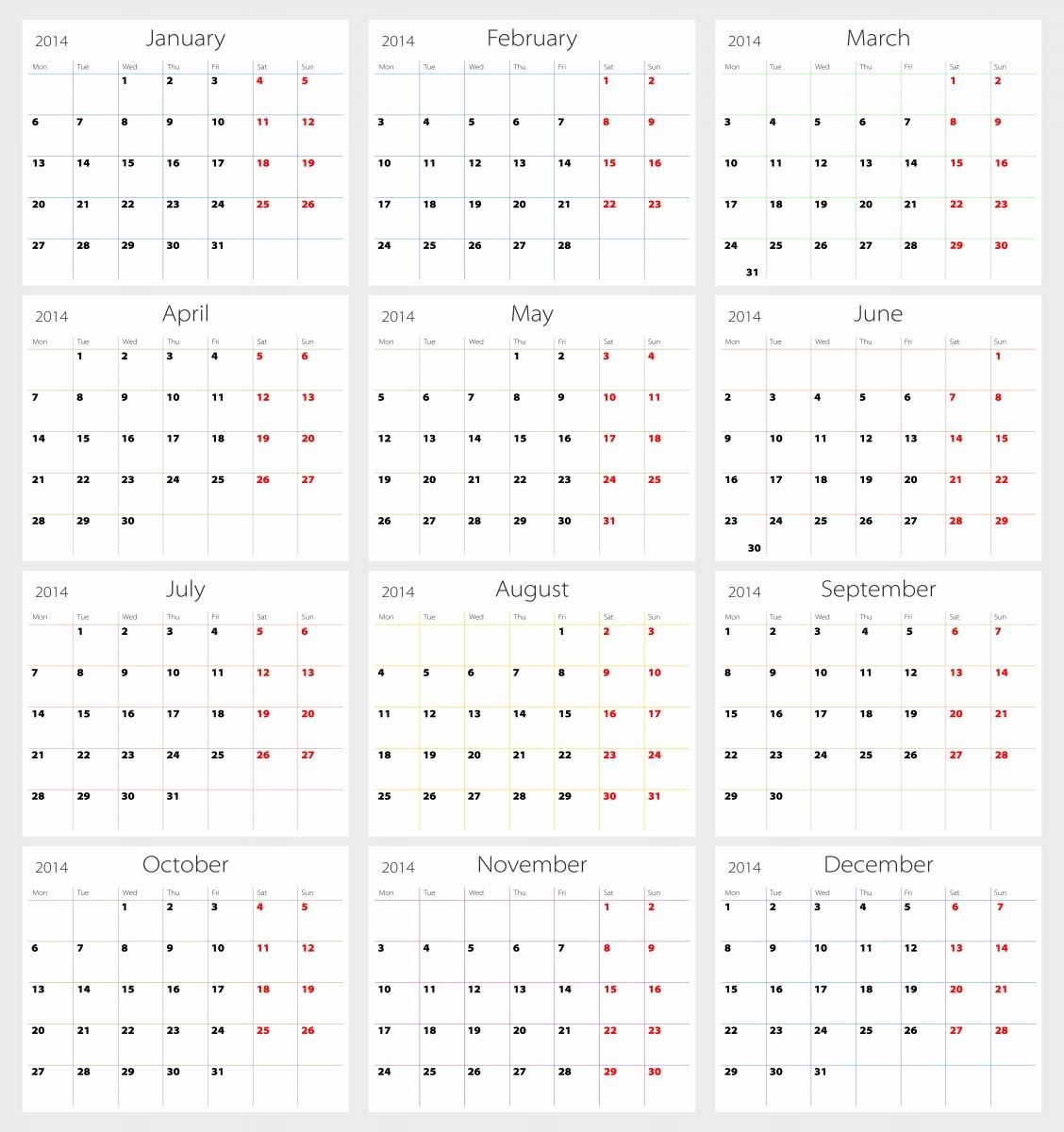 monthly calendar 2014 new calendar template site