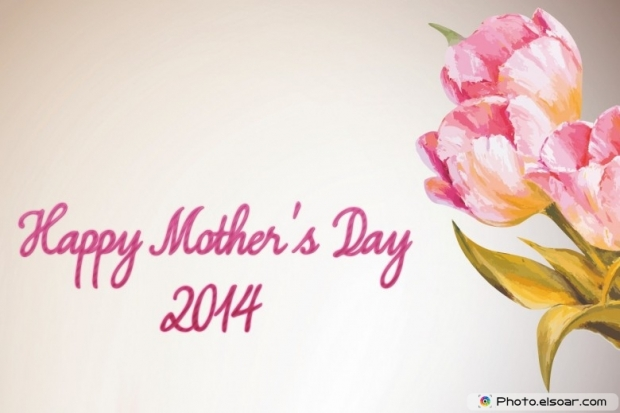 Cute 2014 Mothers day flowers card as best gift