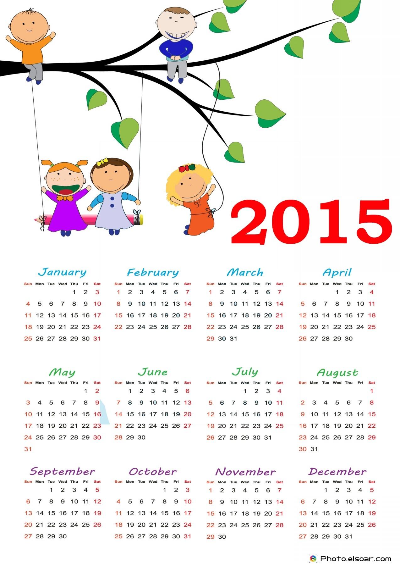 Cute Printable Calendar 20152015 Blank Calendar Free Print | 2015 ...