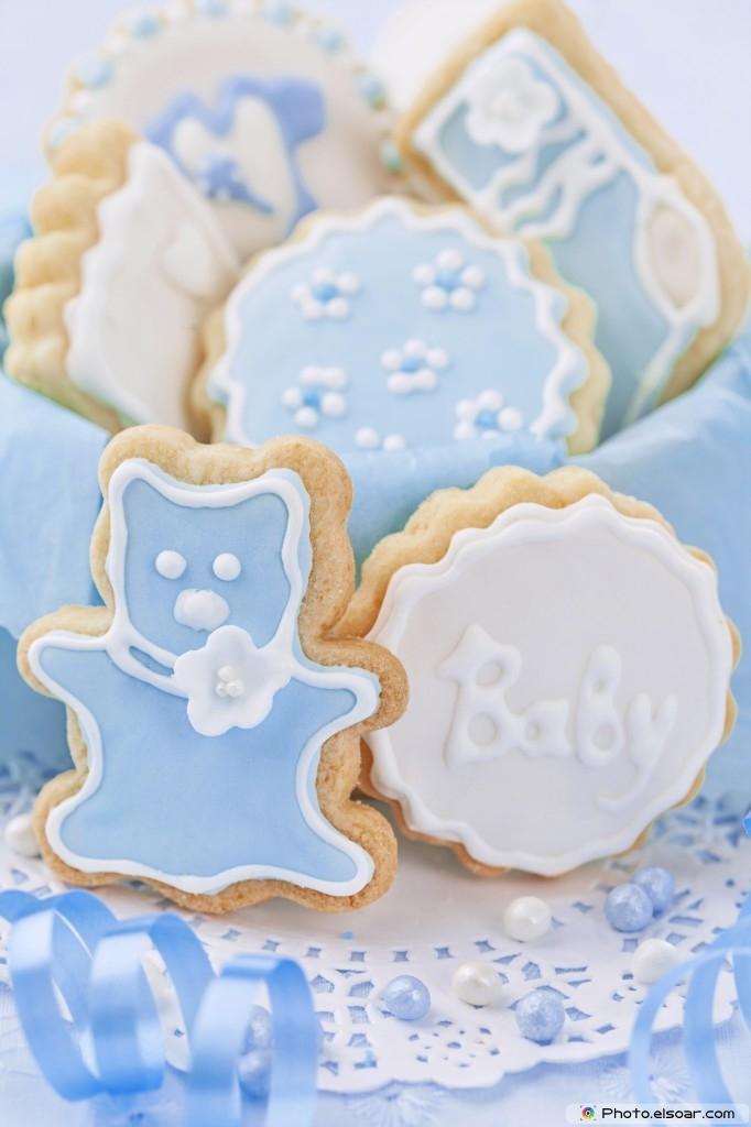 Delicious Baby Boy Cookies