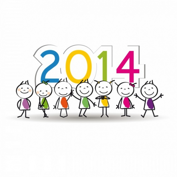 Designs for Kids. Happy New Year 2014 n 2