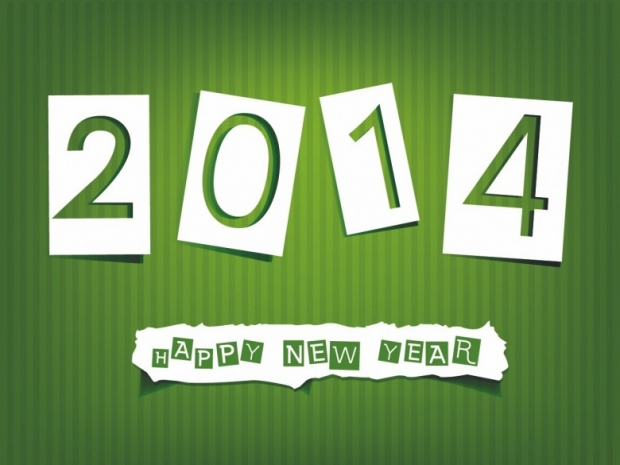 Different Design Happy New Year 2014 Imagem 1