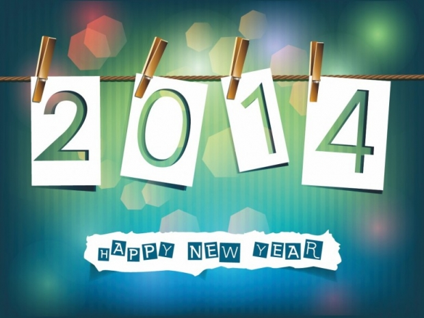 Different Design Happy New Year 2014 Imagem 4