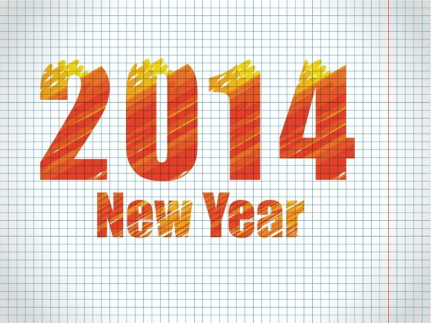 Different Design Happy New Year 2014 Imagem 5
