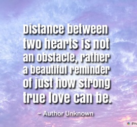 Distance between two hearts is not an obstacle