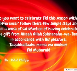 Do you want to celebrate Eid this season