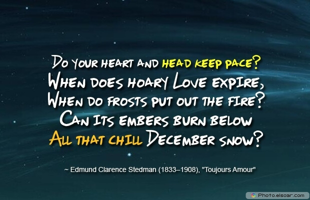 Snow, Edmund Clarence Stedman, December Quotes, Sayings About December, Quotes Images