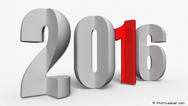 Download New Year Greetings 2016 3D Image