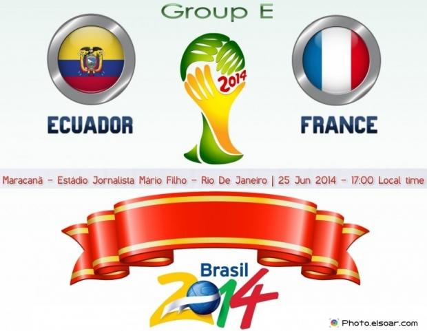 Ecuador Vs France - World Cup 2014 - 25 Jun 2014 - 17:00 Local time - GROUP E - Maracanã - Estádio Jornalista Mário Filho - Rio De Janeiro