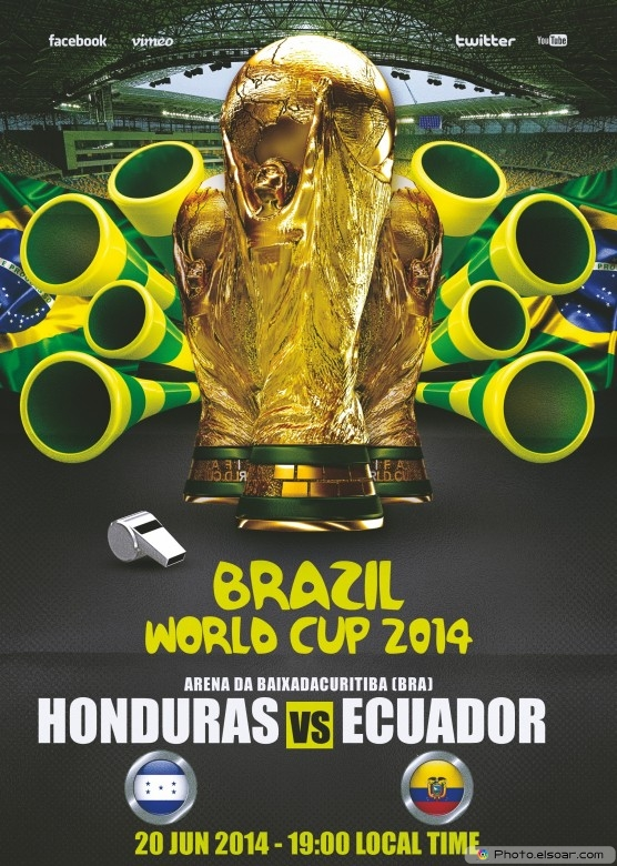 Ecuador vs Honduras - World Cup 2014 - 20 Jun 2014 - 19:00 Local time - Group E - Arena da Baixada - Curitiba
