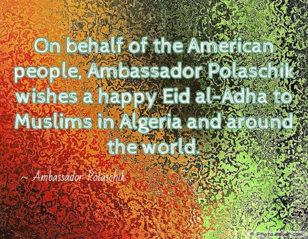 Eid Mubarak Quote By Ambassador Polaschik