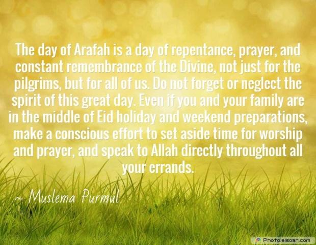Eid Mubarak Quote By Muslema Purmul