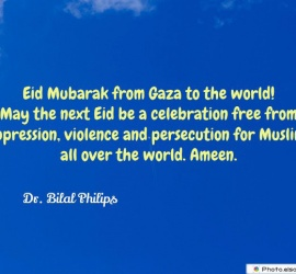 Eid Mubarak from Gaza to the world