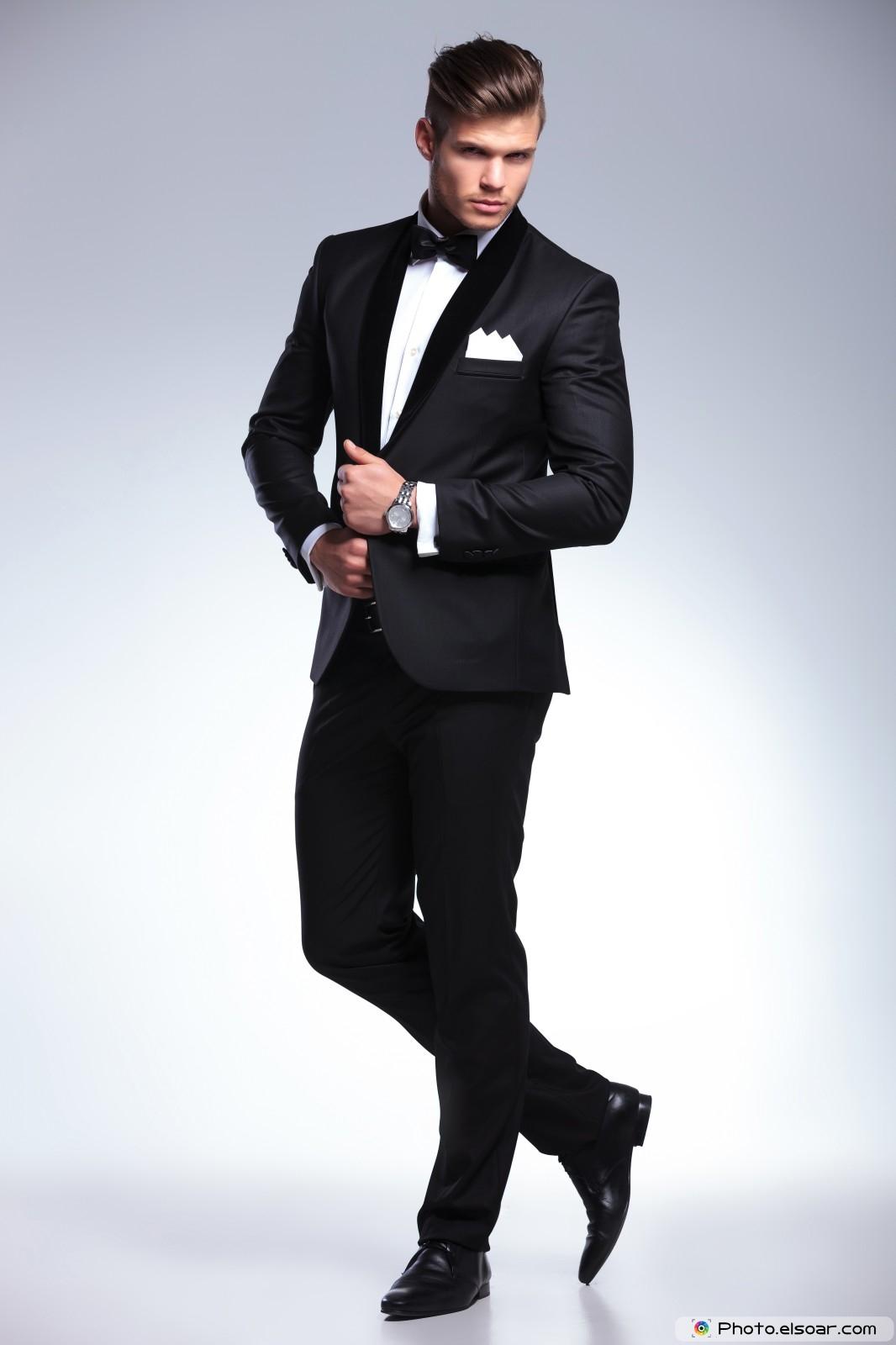 Elegant Young Fashion Man in Tuxedo • Elsoar Tuxedo Shirt