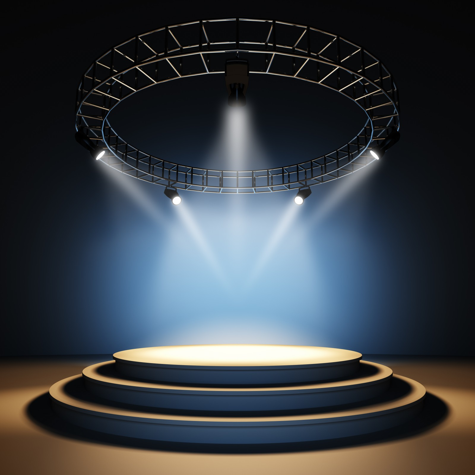 Empty Concert Stage with Lights