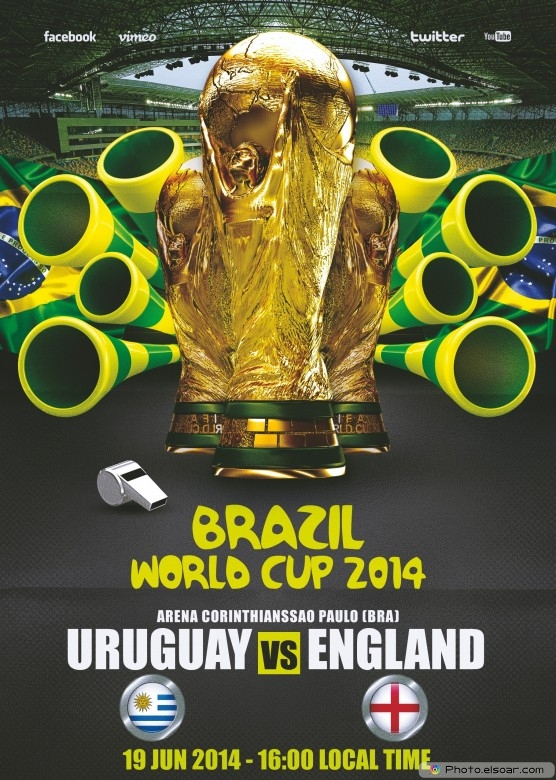 England vs Uruguay - World Cup 2014 - 19 Jun 2014 - 16:00 Local time - Group D - Arena Corinthians - Sao Paulo
