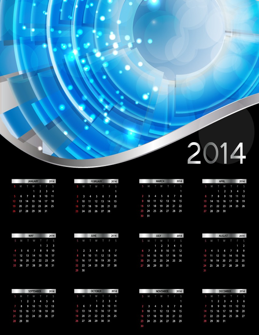 Assembly of the exquisite designs for the 2014 calendar year, to share