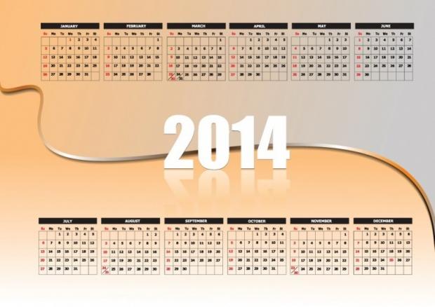 FREE 2014 Calendar Large Size 1