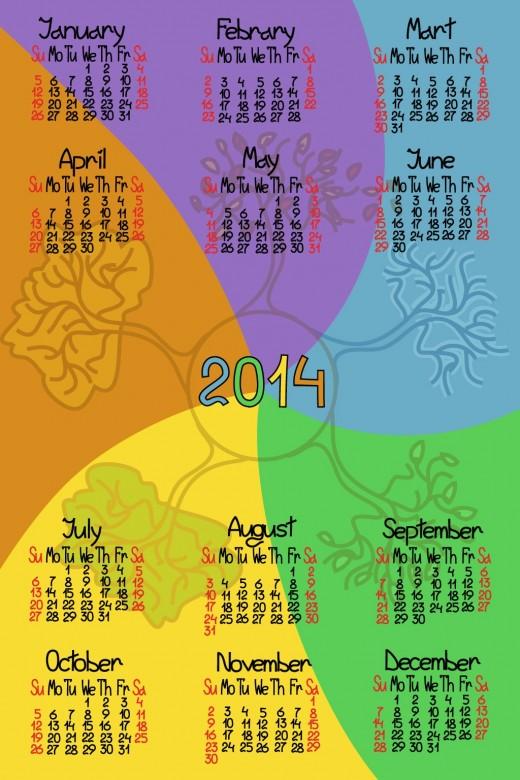 FREE 2014 Calendar Large Size 10