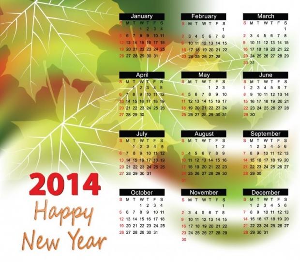 FREE 2014 Calendar Large Size 2