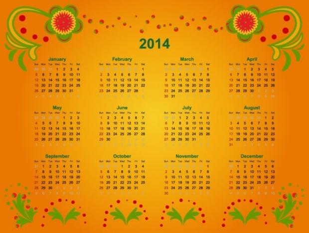 FREE 2014 Calendar Large Size 3