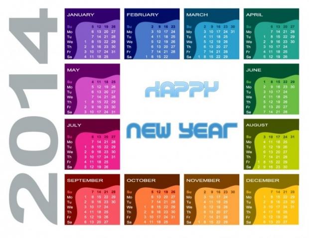 FREE 2014 Calendar Large Size 4