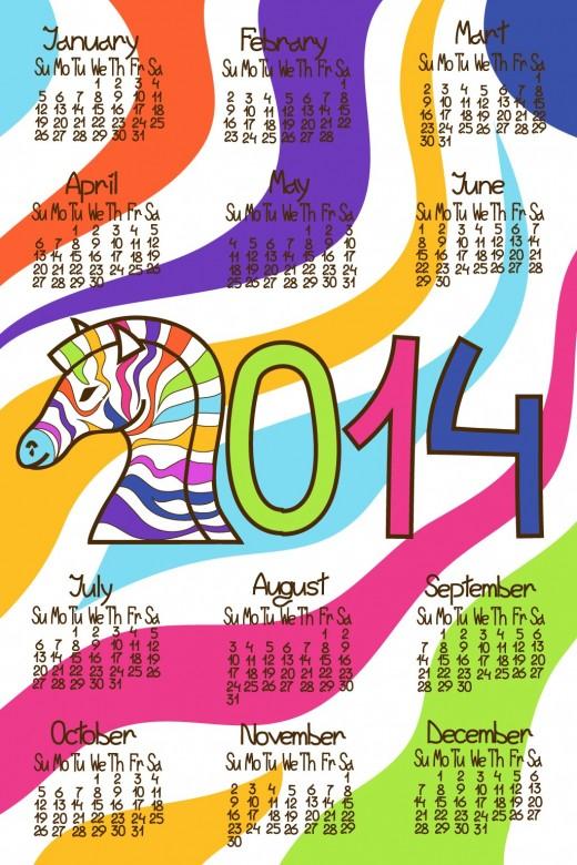 FREE 2014 Calendar Large Size 6